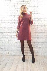 б2413 платье тёплое для кормления бордо