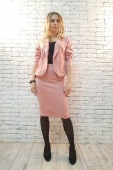 2404 пиджак Бостон розовая замша