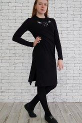"""2620 платье черное """"глазки"""""""