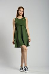 б2292 платье-майка для кормления хаки
