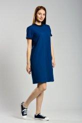 б2294 платье-футболка синее