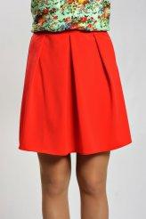 2137 юбка красная со складками