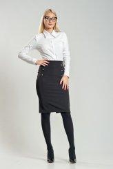 1815 юбка черная с завышенной талией