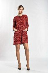 б2203 платье розы с карманами