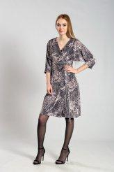 б2635 платье на запахе бархат леопард