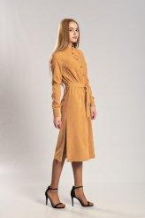 Б2659 платье-рубашка для кормления вельвет