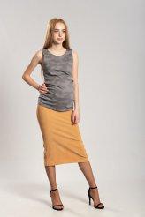 Б2653 юбка для беременных песочный вельвет
