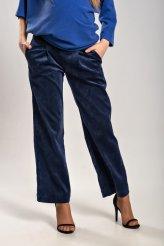 Б2651 брюки синие микровельвет для беременных