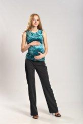 Б2672 майка бирюзовый креш для беременных и кормления