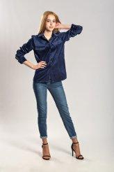 Б2670 рубашка синяя вельвет для кормления
